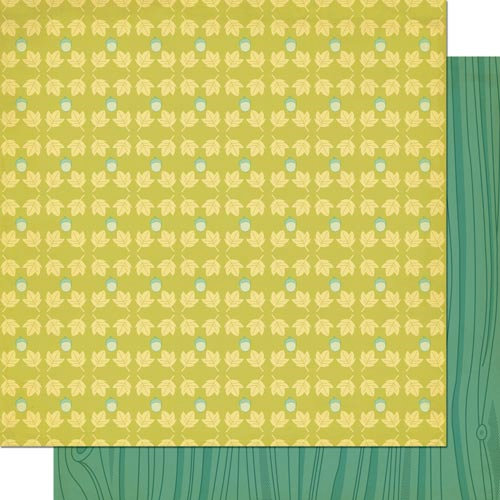 Cosmo Cricket - Nutmeg Collection - 12 x 12 Double Sided Paper - Acorn