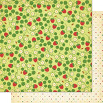 Cosmo Cricket - Garden Variety Collection - 12 x 12 Double Sided Paper - Strawberry Fields, CLEARANCE