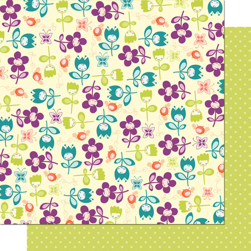 Cosmo Cricket - Pixie-Licious Collection - 12 x 12 Double Sided Paper - Bloomin' Babies