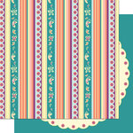 Cosmo Cricket - Pixie-Licious Collection - 12 x 12 Double Sided Paper - Brownie Bands