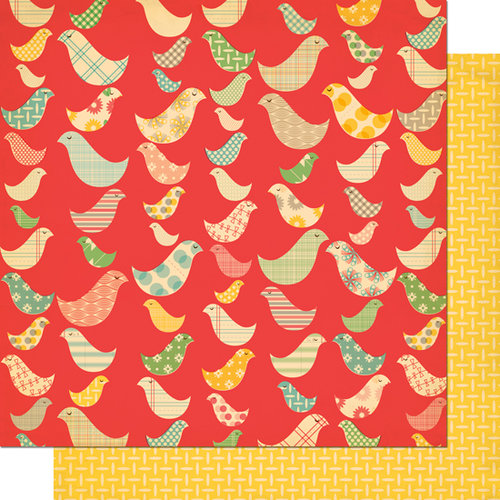 Cosmo Cricket - Togetherness Collection - 12 x 12 Double Sided Paper - Birds of a Feather