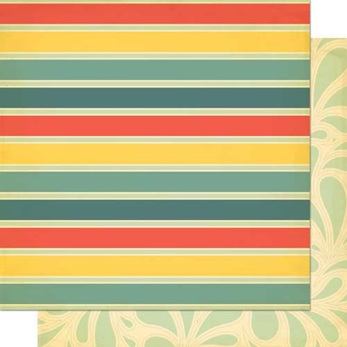 Cosmo Cricket - Salt Air Collection - 12 x 12 Double Sided Paper - Deck Chairs