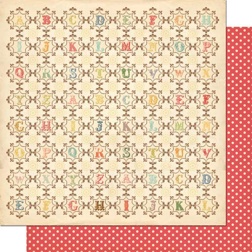 Cosmo Cricket - Odds and Ends Collection - 12 x 12 Double Sided Paper - From A to Z
