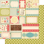 Cosmo Cricket - Odds and Ends Collection - 12 x 12 Double Sided Paper - Scraps
