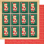 Cosmo Cricket - Dear Mr. Claus Collection - Christmas - 12 x 12 Double Sided Paper - Yes, Virginia