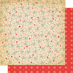 Cosmo Cricket - Dear Mr. Claus Collection - Christmas - 12 x 12 Double Sided Paper - Parson Brown