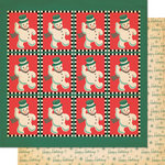 Cosmo Cricket - Dear Mr. Claus Collection - Christmas - 12 x 12 Double Sided Paper - Thumpity Thump