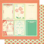 Cosmo Cricket - Clementine Collection - 12 x 12 Double Sided Paper - Phoebe