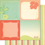 Cosmo Cricket - Clementine Collection - 12 x 12 Double Sided Paper - Genevieve