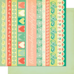 Cosmo Cricket - Clementine Collection - 12 x 12 Double Sided Paper - Lila