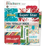 Cosmo Cricket - Get Happy Collection - Cardstock Stickers - Get Happy
