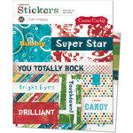 Cosmo Cricket - Get Happy Collection - Cardstock Stickers - Get Happy