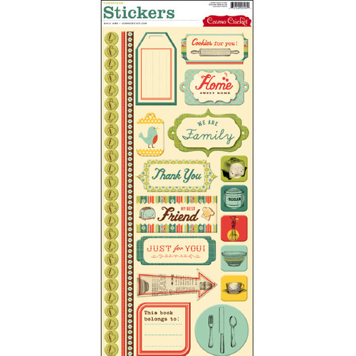Cosmo Cricket - Early Bird Collection - Stickers
