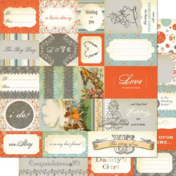 Cosmo Cricket - Everafter Collection - 12 x 12 Double Sided Paper - Elements, CLEARANCE