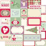 Cosmo Cricket - Mitten Weather Collection - Christmas - 12 x 12 Double Sided Paper - Elements