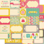 Cosmo Cricket - Upcycle Collection - 12 x 12 Double Sided Paper - Elements
