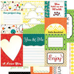 Cosmo Cricket - Hello Sunshine Collection - 12x12 Cardstock Journal Cards