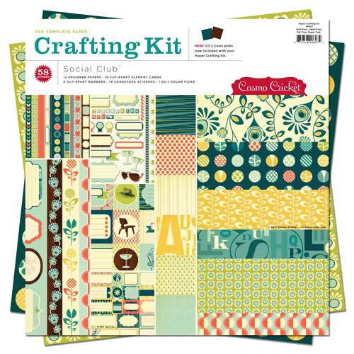Cosmo Cricket - Social Club Collection - Paper Crafting Kit