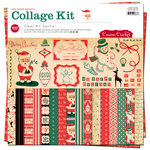 Cosmo Cricket - Dear Mr. Claus Collection - Christmas - Collage Kit