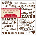 Cosmo Cricket - Gretel Collection - Rub Ons - Autumn Phrases, CLEARANCE