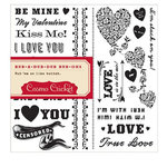 Cosmo Cricket - Hey Sugar Collection - Valentine's Day - Rub Ons - Lovey Dovey, CLEARANCE