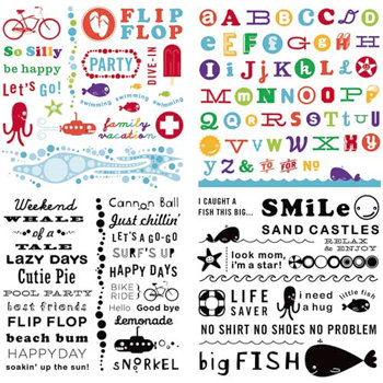 Cosmo Cricket - Snorkel Collection - Rub Ons