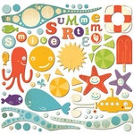 Cosmo Cricket - Snorkel Collection - Ready Set Chipboard