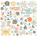 Cosmo Cricket - Everafter Collection - Ready Set Chipboard, CLEARANCE