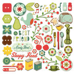 Cosmo Cricket - Early Bird Collection - 12 x 12 Ready Set Chipboard