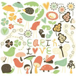 Cosmo Cricket - Earth Love Collection - Ready Set Chipboard