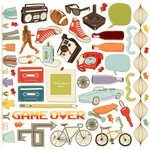 Cosmo Cricket - The Boyfriend Collection - Ready Set Chipboard, CLEARANCE