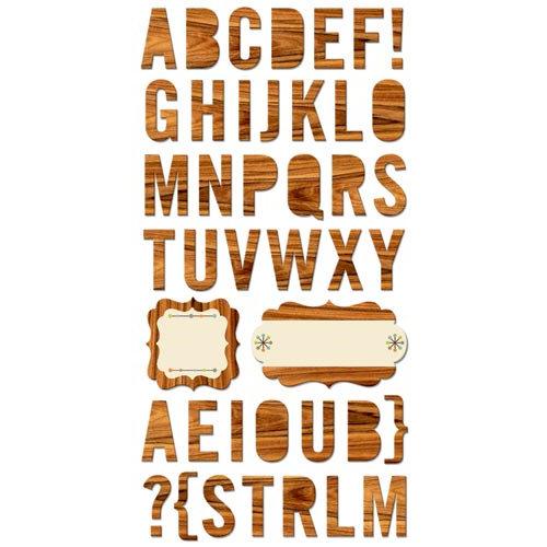 Cosmo Cricket - The Boyfriend Collection - Ready Set Chipboard - Alphabet