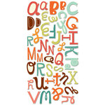Cosmo Cricket - Nutmeg Collection - Ready Set Chipboard - Alphabet, CLEARANCE