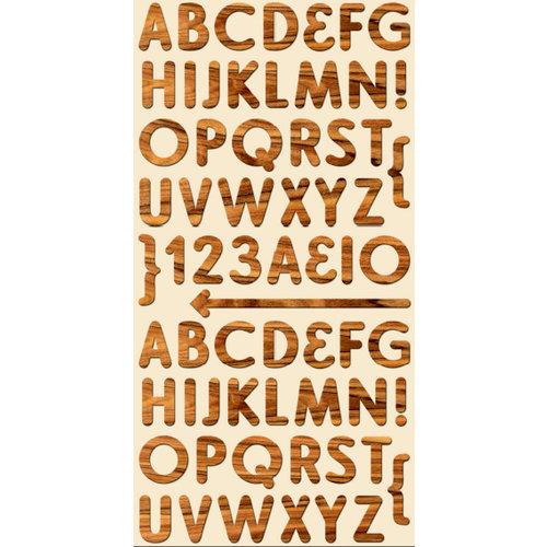 Cosmo Cricket - Ready Set Chipboard - Paul Bunyan Alphabet, CLEARANCE