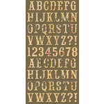 Cosmo Cricket - Ready Set Chipboard - Flour Sack Alphabet, CLEARANCE