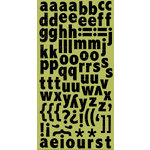 Cosmo Cricket - Ready Set Chipboard - Licorice Alphabet, CLEARANCE