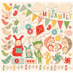 Cosmo Cricket - Togetherness Collection - 12 x 12 Ready Set Chipboard