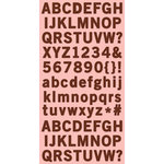 Cosmo Cricket - Ready Set Chipboard - Iron Port Alphabet