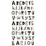 Cosmo Cricket - Ready Set Chipboard - Wackadoo Alphabet, CLEARANCE