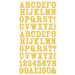 Cosmo Cricket - Ready Set Chipboard - Hello Yello Alphabet