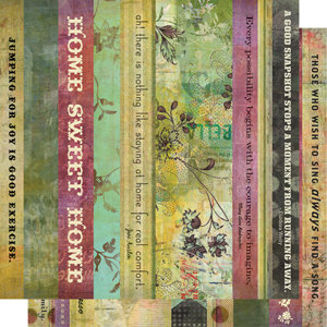Cosmo Cricket - Fleuriste Collection - Strip Tease Paper - Fleuriste, CLEARANCE