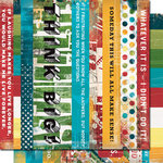 Cosmo Cricket - Get Happy Collection - Strip Tease Paper - Get Happy