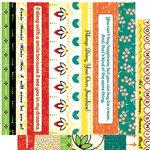 Cosmo Cricket - Hello Sunshine Collection - 12x12 Cardstock Strip Tease - Picnic