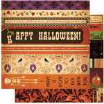 Cosmo Cricket - Haunted Halloween Collection - 12x12 Double Sided Paper - Strip Tease