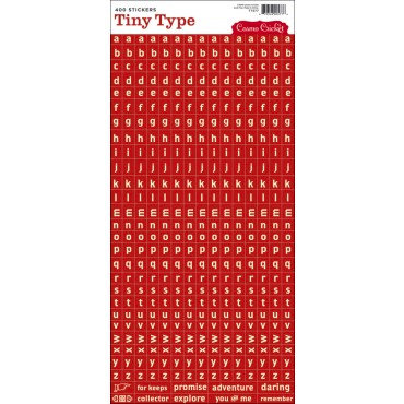 Cosmo Cricket - Tiny Type Collection - Alphabet Cardstock Stickers - Red