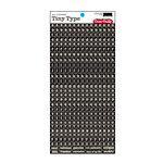 Cosmo Cricket - Tiny Type Collection - Alphabet Cardstock Stickers - Black
