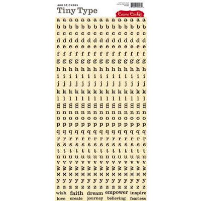 Cosmo Cricket - Tiny Type Collection - Alphabet Cardstock Stickers - Cream