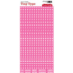 Cosmo Cricket - Tiny Type Collection - Alphabet Cardstock Stickers - Pink, CLEARANCE