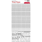 Cosmo Cricket - Tiny Type Collection - Number Cardstock Stickers - Black Clear