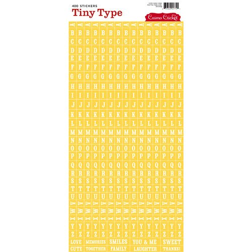 Cosmo Cricket - Tiny Type Collection - Alphabet Cardstock Stickers - Yellow